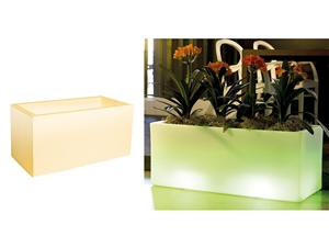 MACETERO RECTANGULAR LED 2,16 W 50X50 CM