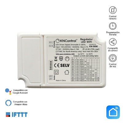 REGULADOR LED WIFI AC 100/277V 850-1500 mA 40-60 W MONOCOLOR